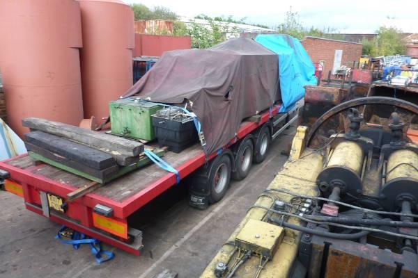 45 foot flat machine moving trailer