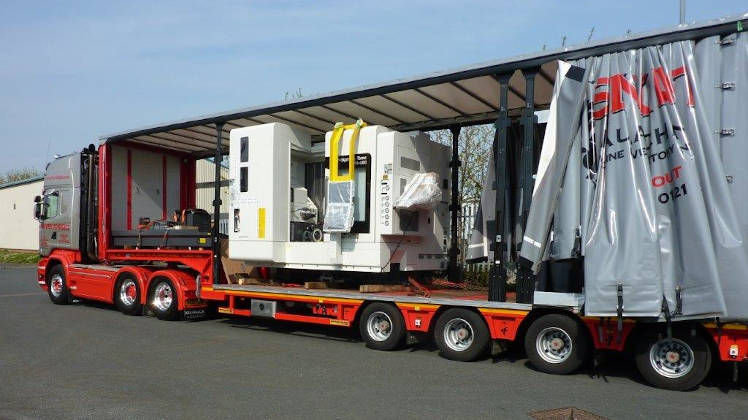 Machinery being transported